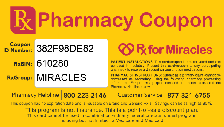 Rx 4 Miracles Prescription Coupon